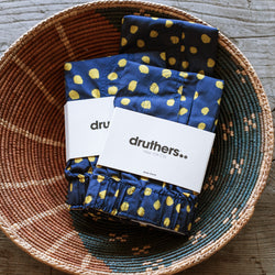 Organic Cotton Markers Dots- Navy