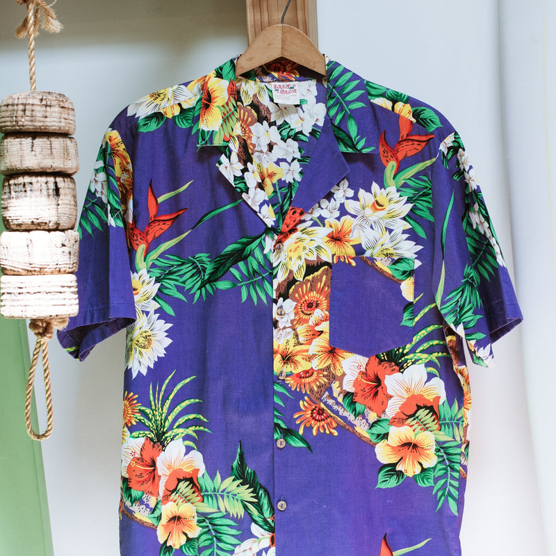 Barefoot in Paradise Vintage Hawaiian Shirt