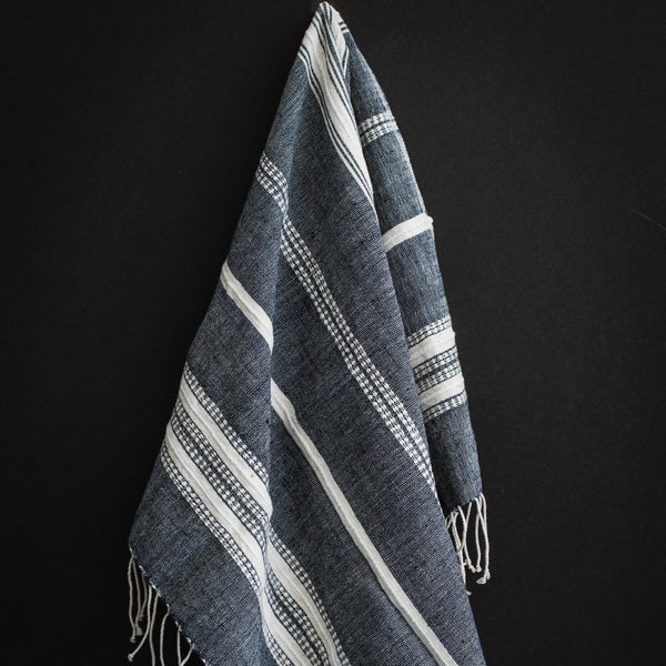 Aden - Navy Cotton hand Towel
