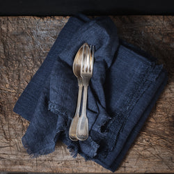 Stone Washed Linen Dinner Napkin - Indigo Set of 4
