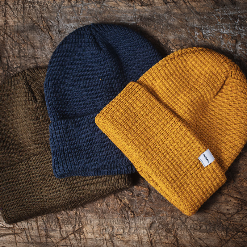 Shoreman's Ribbed Beanie - Olive