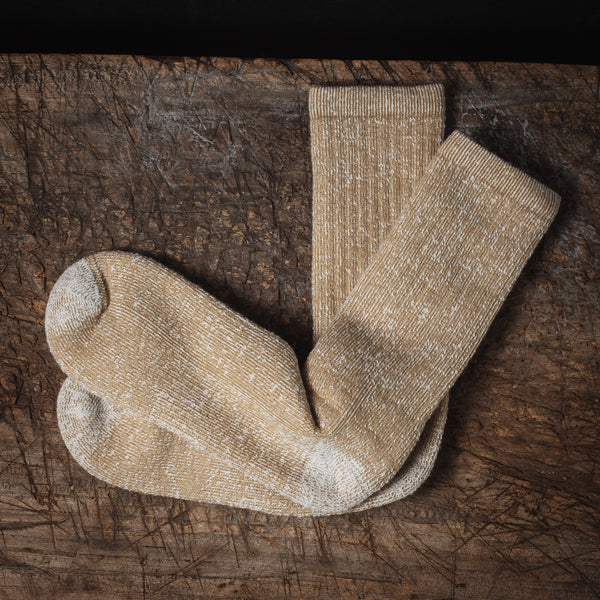 Merino Wool House Socks - Brown