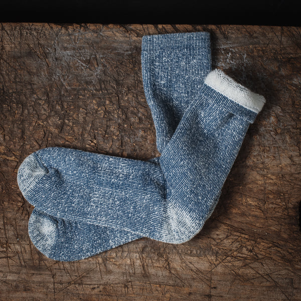 Everyday Organic Cotton Melange Crew Sock - NAVY