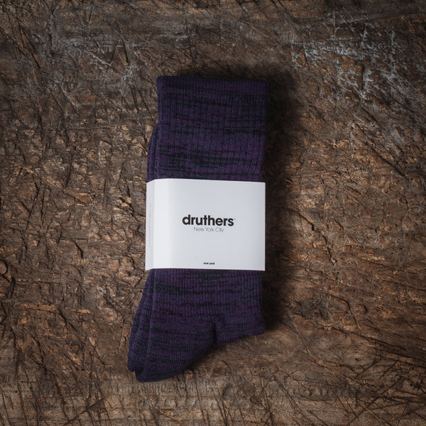 Merino Wool House Socks - Purple