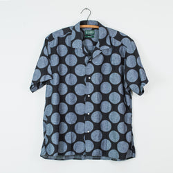 Navy Dot Camp Shirt