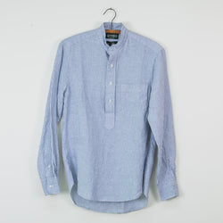 Blue Stripe Linen Long Sleeve Shirt