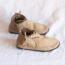 Travel Moccasins - Straw