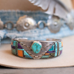 Turquoise and Spiny Oyster Bracelet- Navajo #8 (Cathy Webster)