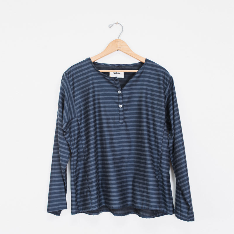 Basque Shirt- Navy stripe
