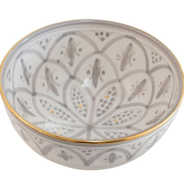 Bowl - Grey Damask