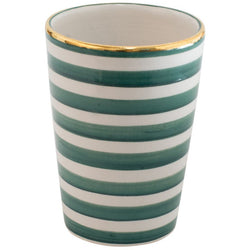 Green Striped Cup