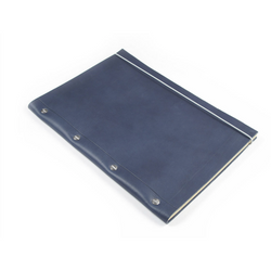 Large Leather Notebook - Cobalt