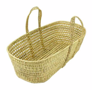 Basket Basinette w/pad, puddle pad and sheet