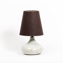 Petite Ceramic Lamp with New Linen Shade