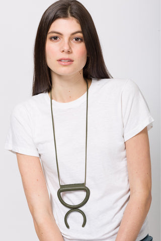 Cass Necklace - ITF Exclusive Olive Green