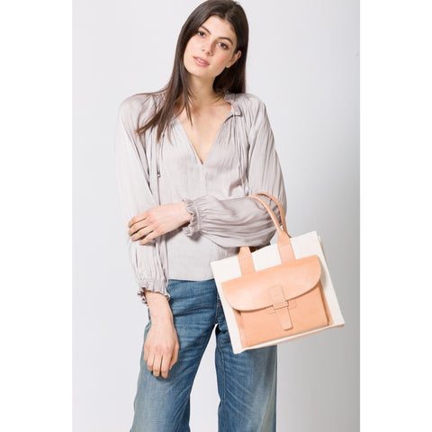 Natural & Canvas Tote Small - SAC 1