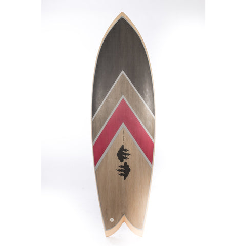 Surfboard - Wood Chevron