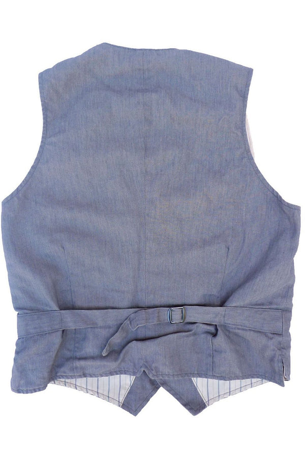 Continential Vest - Light Grey Slate Twill