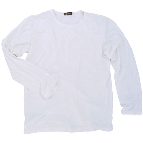 Long Sleeve Tshirt, Fletcher - White