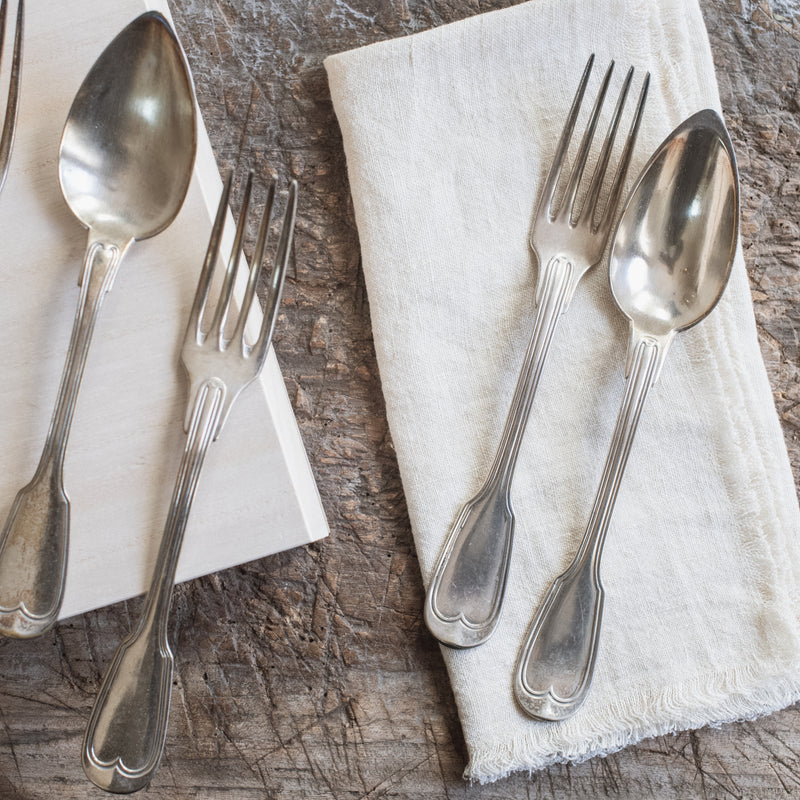 Vintage Silver Flatware- Set of 4 Forks and 4 Spoons