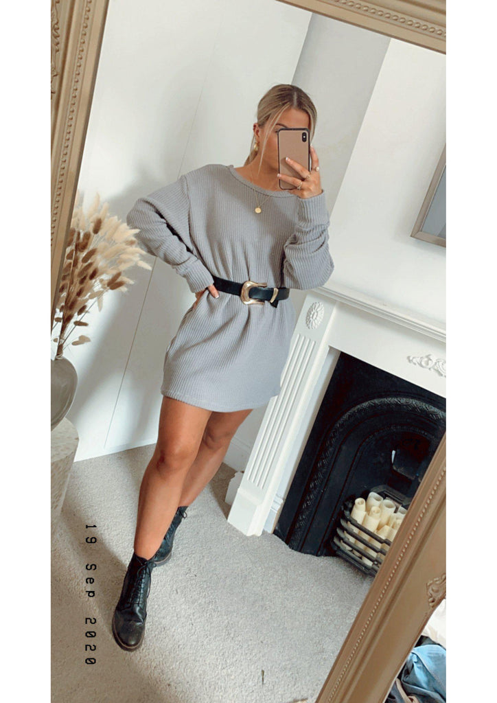 Chunky knit Jumper Dress