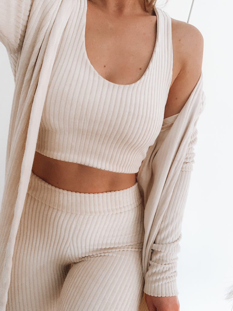 Knitted Ribbed Cardi
