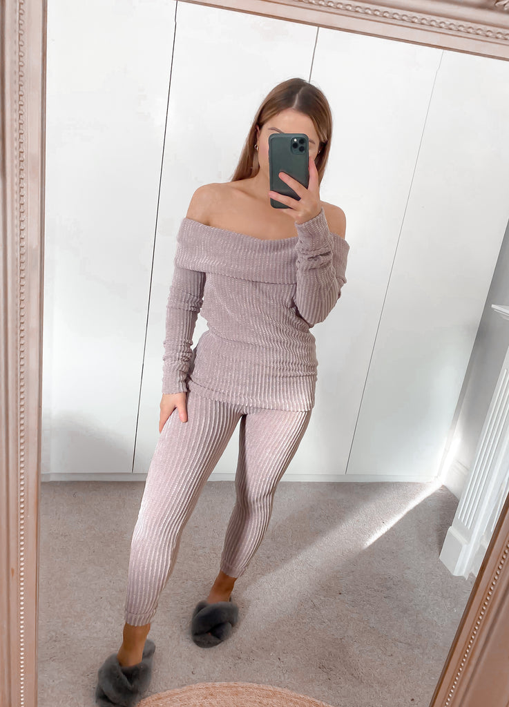 Chenille Off The Shoulder Jumper