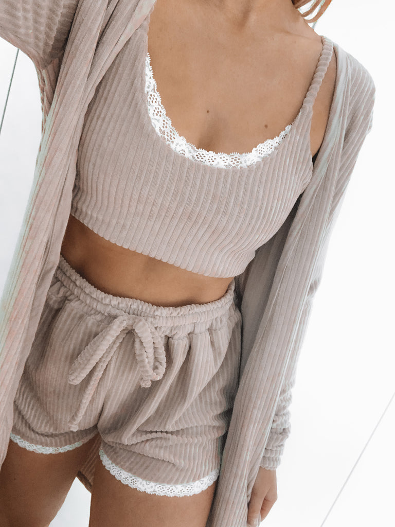 Knitted Ribbed PJ Top