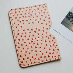 personalised heart print passport holder create gift love