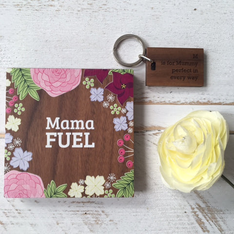 Mama Fuel Coaster and Keyring