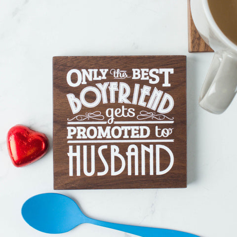 Husband Quote Wood Coaster