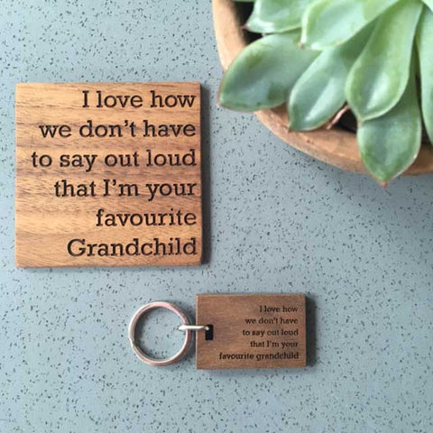 Grandchild-Coaster-And-Keyring-Set