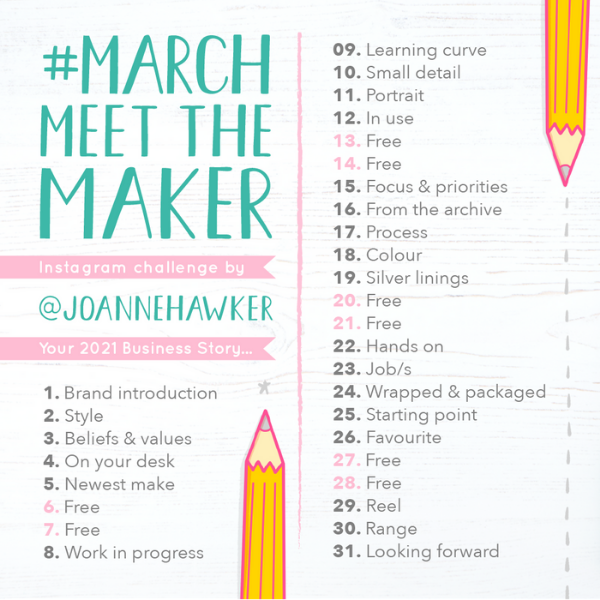 March Meet the Maker Prompts 2021