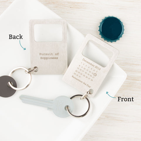 Personalised Never Forget Bottle Opener Keyring