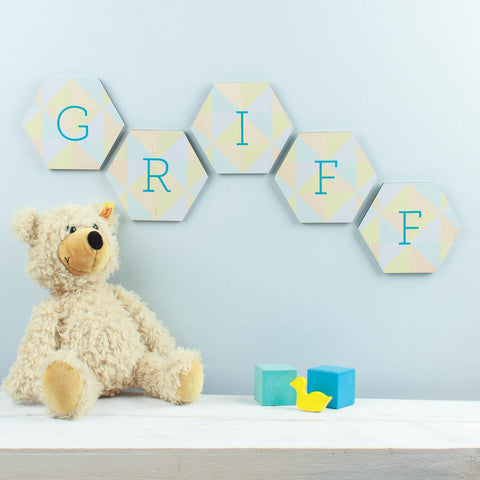 Personalised Nursery Name Wall Art
