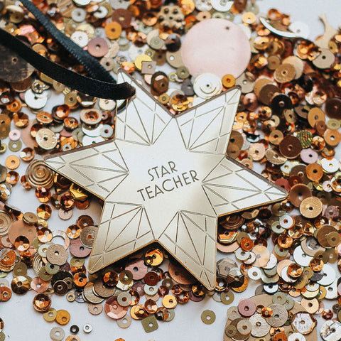 Personalised Star Teacher Bauble