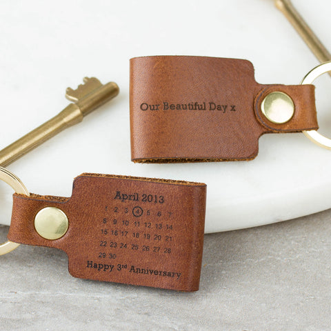 Personalised-Leather-Keyring-Create-Gift-Love