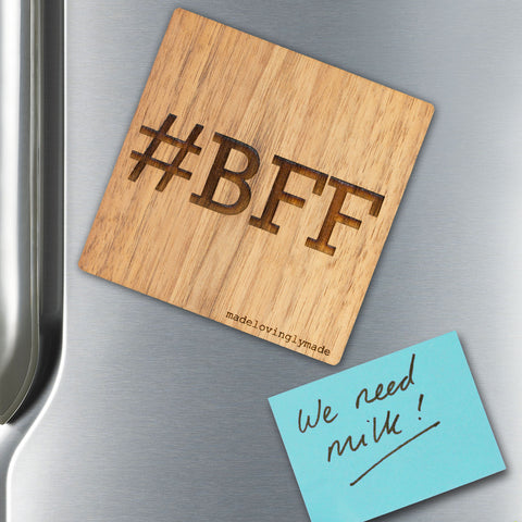 Personalised-wooden-gift-#BFF-magnet-MLM207