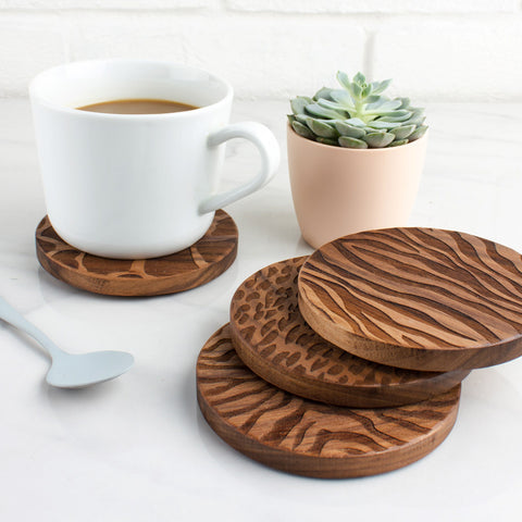 wooden-engraved-animal-print-coasters