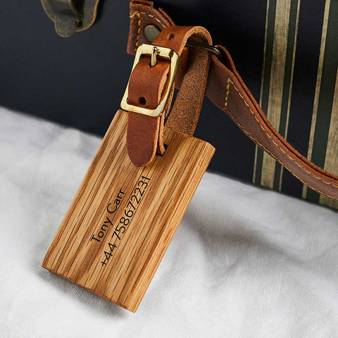 Personalised Wooden Luggage Tag - Create Gift Love