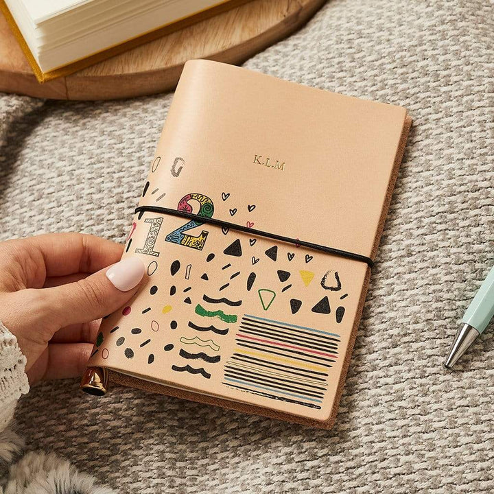 Design Your Own Leather Notebook Create Gift Love