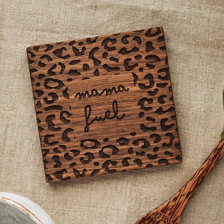 Mama Fuel Leopard Print Coaster Create Gift Love
