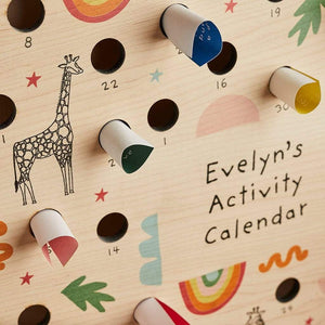 Personalised Children's Activity Calendar Create Gift Love