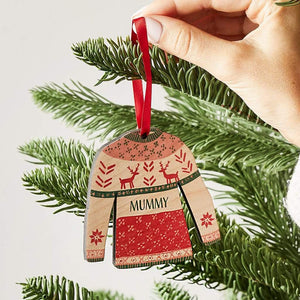Personalised Christmas Jumper Bauble Set Create Gift Love