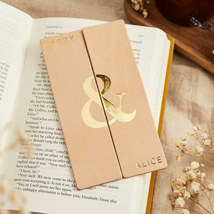 Personalised Couples Bookmark Set Create Gift Love