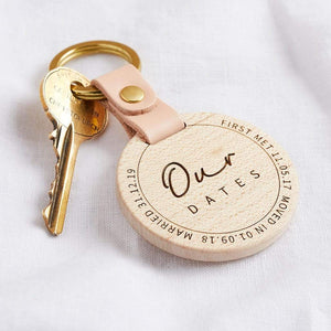 Personalised Dates to Remember Keyring Create Gift Love