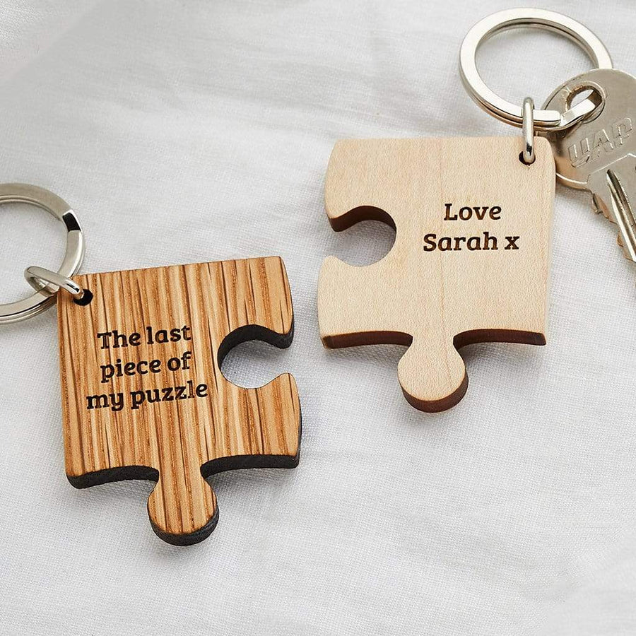 Personalised Fifth Anniversary Jigsaw Keyring Create Gift Love