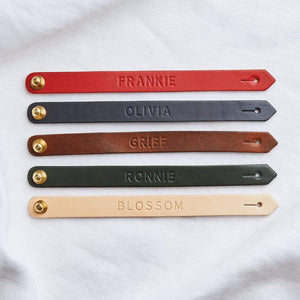 Personalised Leather Bracelet for Children Create Gift Love