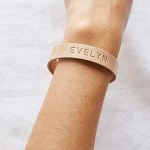 Personalised Leather Wristband Create Gift Love