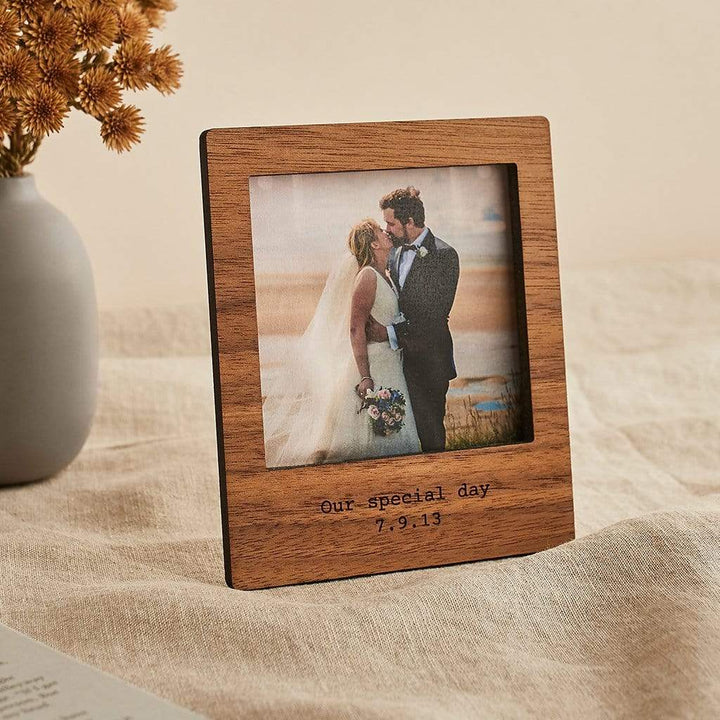 Personalised Magnetic Photo Frame With Stand Create Gift Love
